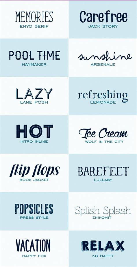 14 fuentes tipográficas de estilo veraniego de descarga ...
