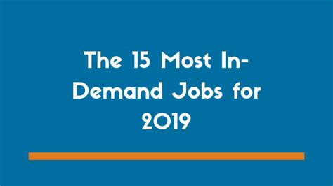 15 Best and Most In Demand Jobs for 2019 | Zipjob