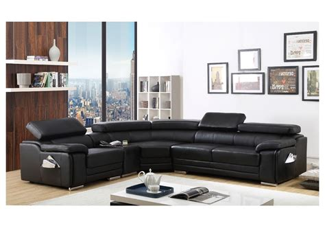 15 Collection of Large Black Leather Corner Sofas