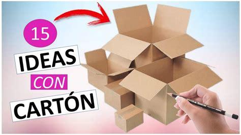 15 Manualidades FÁCILES Y RÁPIDAS con cajas de cartón ...