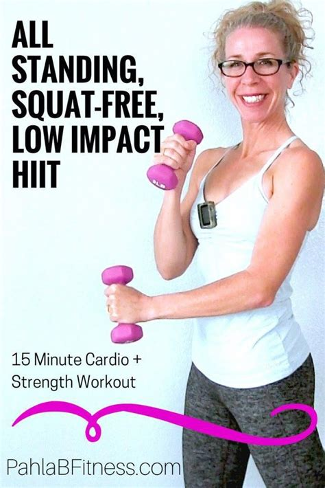 15 Minute LOW IMPACT, Squat Free, All STANDING Full Body ...