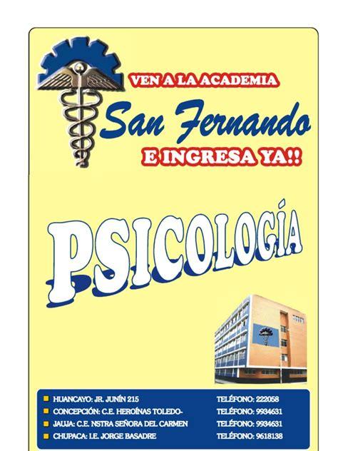 15 Psicolog A   Sicología y ciencia cognitiva   Adultos