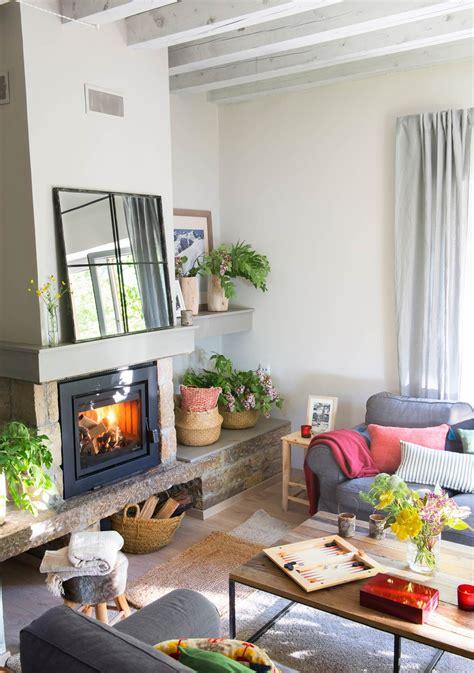 15 salones con chimenea para el invierno   home, sweet ...