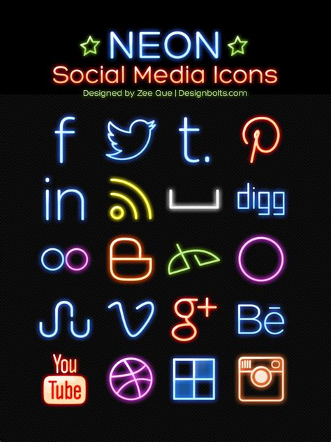 150+ Best Free Social Media Icons/Buttons Sets Collection