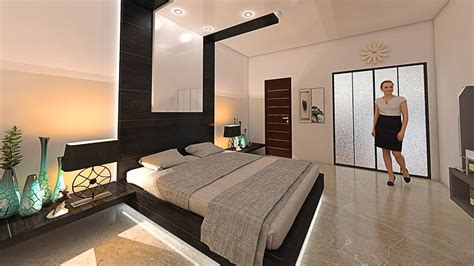 150 Sq Ft bedroom interior design and decore by nikshail ...