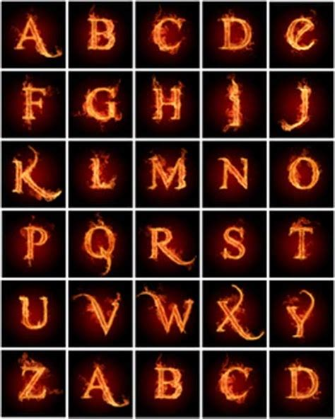 16 Fire Writing Font Images   Alphabet Letters On Fire ...