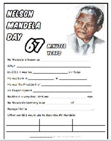 17 Best images about Nelson Mandela Worksheets ...