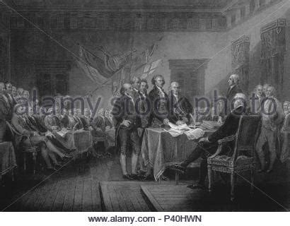 1776 SIGNING DECLARATION OF INDEPENDENCE BY TRUMBULL IN ...