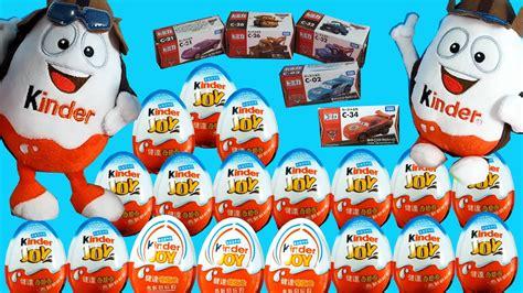 18 Kinder Joy Surprise Eggs 5 Disney Cars 3 Toys KINDER ...