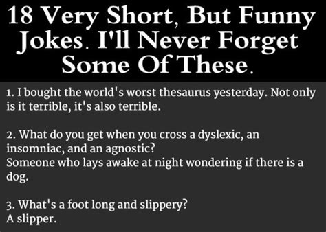 18 Very Short Jokes That Are So Bad They re Actually Good