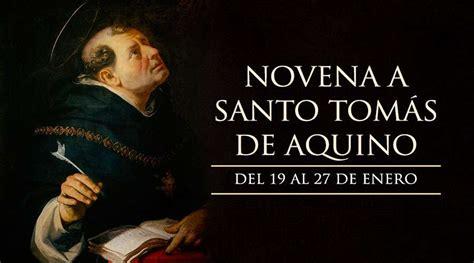19 de enero: Inicia la Novena a Santo Tomás de Aquino ...