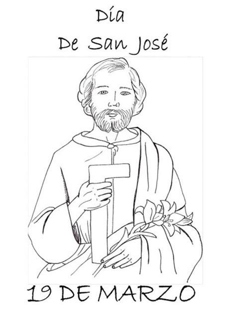 19 de marzo – Día de San José para pintar | Colorear imágenes