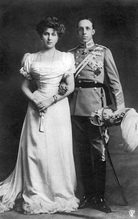 1906 King Alfonso XIII of Spain and fianceé, Princess ...