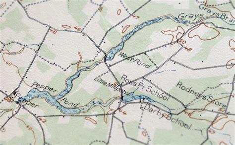 1917 Millsboro Delaware Antique USGS Topo Map Georgetown ...