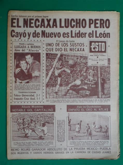 1966 Futbol Leon Lider Del Futbol Mexicano Periodico Esto ...