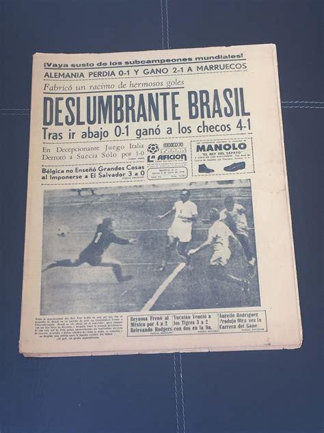 1970 LA AFICION MUNDIAL DE FUTBOL MEXICO 70 – PERIODICO ...