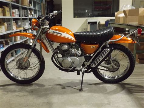 1971 Honda SL175 Vintage Enduro Motorcycle AHRMA Motocross ...