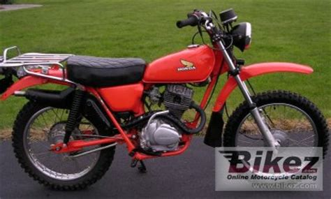 1977 Honda CT 125 specifications and pictures