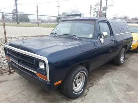 1991 RWD Dodge Ramcharger For Sale in New Orleans LA