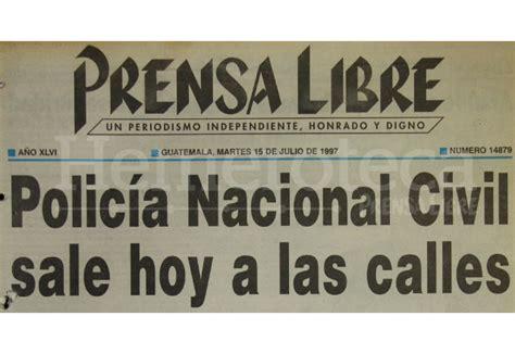 1997: Policía Nacional Civil sale a las calles