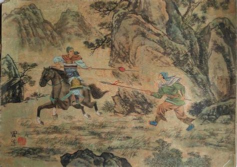 19th Century Painting Of Samurai On Horseback Foot ...