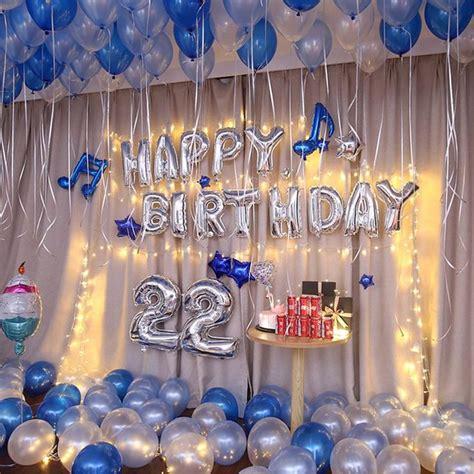 1Set kit de globos de cumpleaños azul, decoraciones de ...