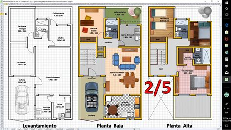 2/5 Planos de Casas con Excel, Anteproyecto de Ampliación ...