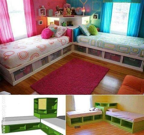 2 camas en cuarto pequeño niñas   Home Decoration ...