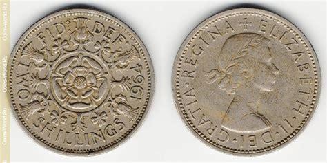 2 chelines  florín  de 1964, Reino Unido, el precio, la ...
