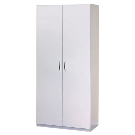 2 Door Wardrobe Wood Cabinet Bedroom Furniture Clothes ...