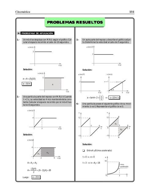 2º ESO   Ejercicios cinemática   gráficas