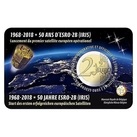 2 euros 2018. Bélgica. 50 aniversario del lanzamiento del ...