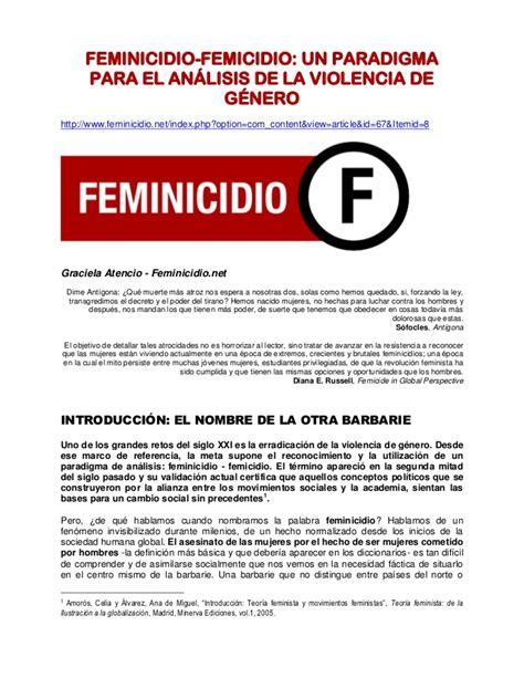 2. feminicidio un paradigma para el analisis de la ...