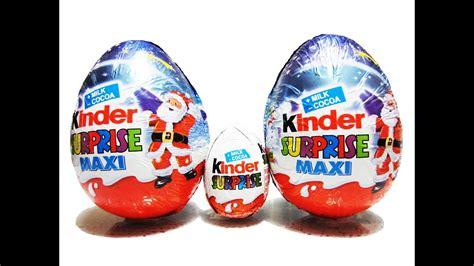 2 Kinder Surprise Maxi Eggs Unboxing   Kinder Maxi ...