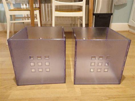 2 Lekman plastic storage boxes to fit IKEA Kallax shelves ...