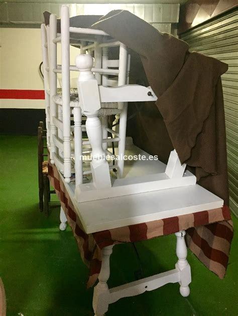 2 mesas y 6 sillas madera maciza estilo rustico cod:20765 ...