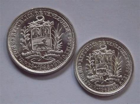 2 Monedas De Plata Venezuela 2 Bolívares 1 Bolívar. Año ...