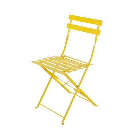 2 sillas plegables de jardín de metal amarillas Confetti ...