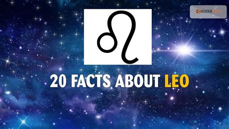 20 Amazing facts about LEO Zodiac Sign | The Insider Story ...