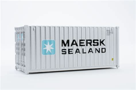 20  Corrugated Side Container: Maersk Sealand | Walthers