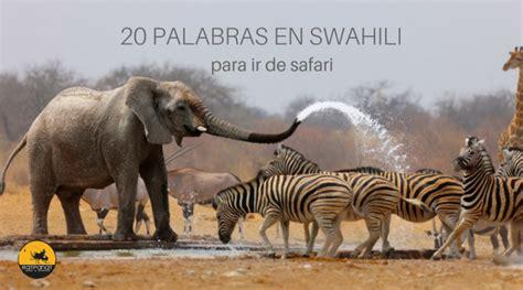 20 palabras en swahili para ir de safari a Africa