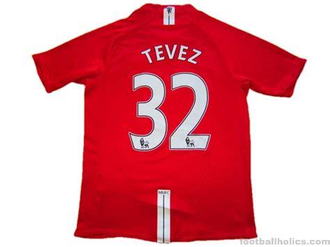 2007/2009 Manchester United Tevez 32 Home   Footballholics.com