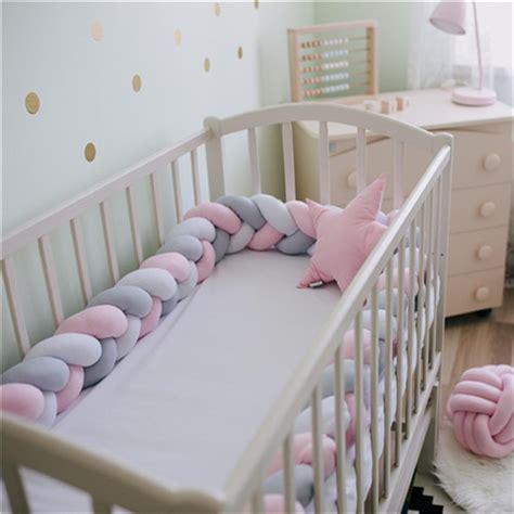 200cm Baby Bed Bumper Knot Design Newborn Baby Crib ...