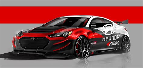 2012 ARK Hyundai Genesis Coupe R Spec tuning race racing ...
