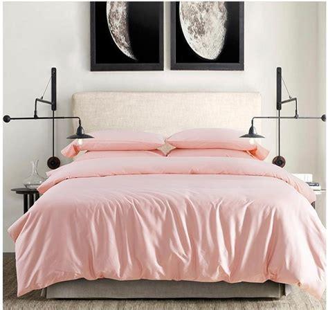 2015 100% Egyptian cotton light pink bedding set sheets ...