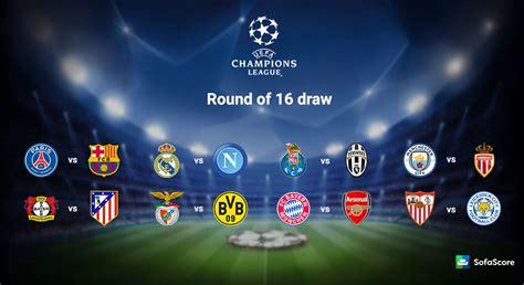 2016/2017 Champions League Round of 16 draw   SofaScore News
