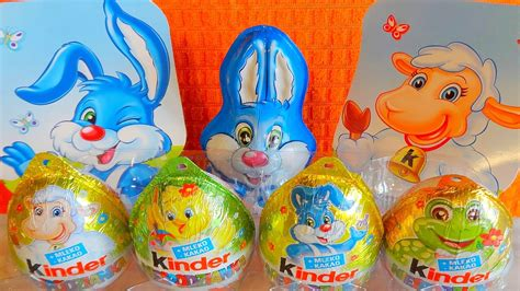 2016 Happy Easter 12 Kinder Surprise Eggs   Bunny Toys ...