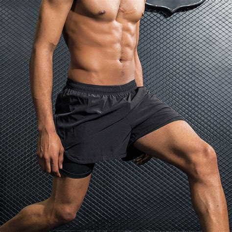 2017 Mens Sports Gym Running Shorts Active Training ...