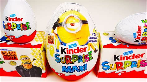 2017 New Unboxing Kinder Surprise Maxi Minions Giant ...