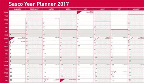 2017 Year Planner, Holiday Wall Planners Manchester ...
